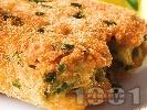 Рецепта Паниран зелен фасул (зелен боб) в яйца,брашно и галета